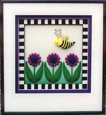 Purple Daisy Bee
